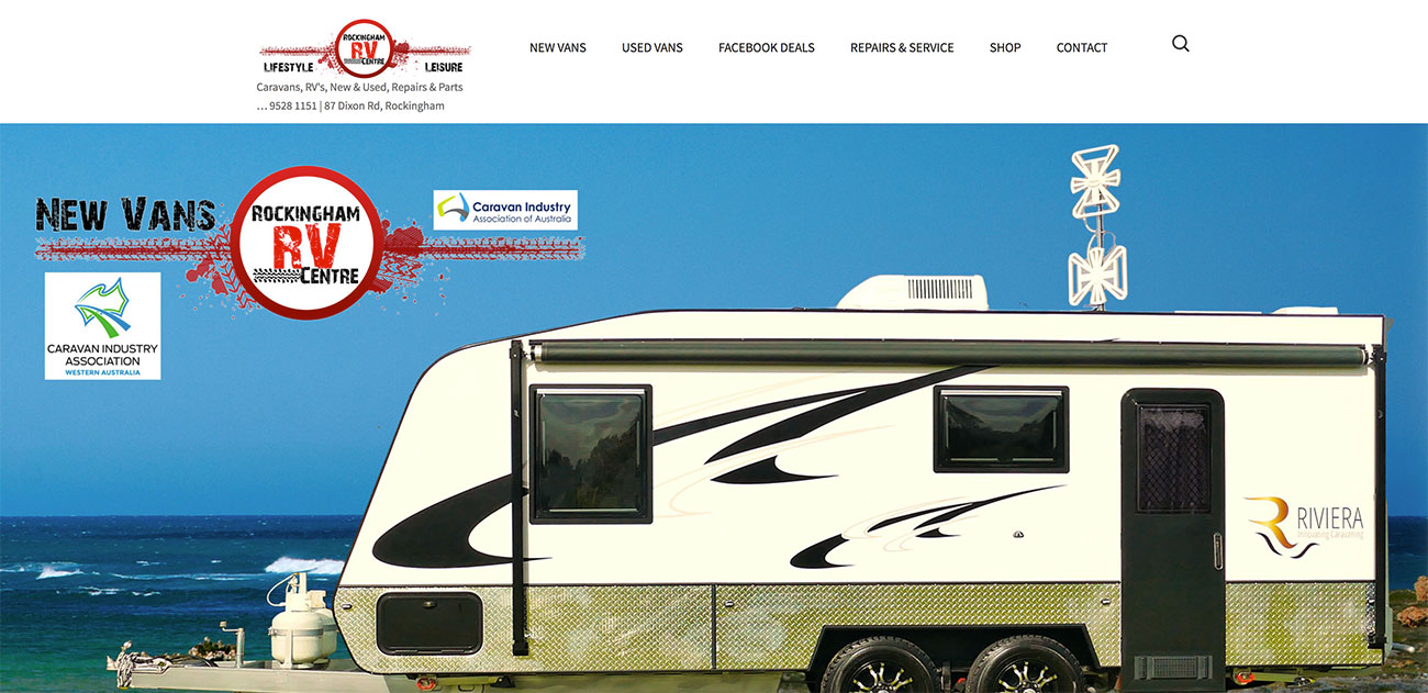 Rockingham RV Centre Website